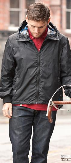 Drayton Black Hooded Spray Jacket,