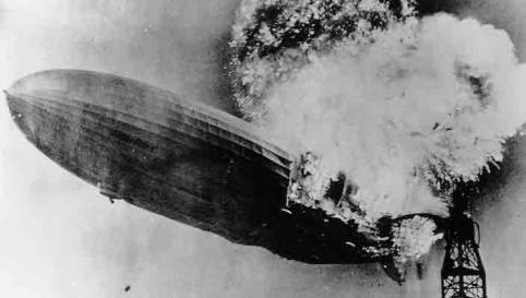 Hindenburg balloon burns