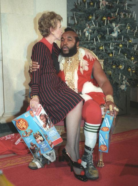 Ba Baracus and Nancy Reagan