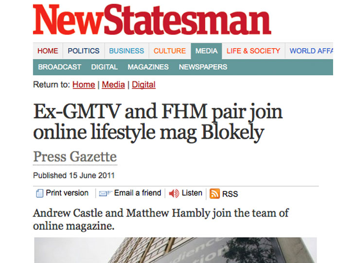 New Statesman - Andrew Castle and new Deputy